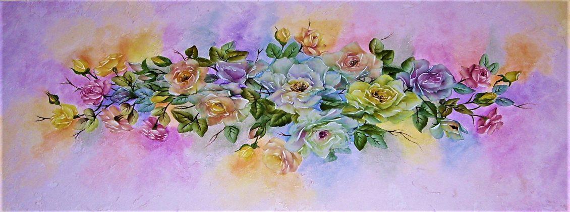 corsi-creativi-quadro-decoupage-pigmenti-composizione-di-rose