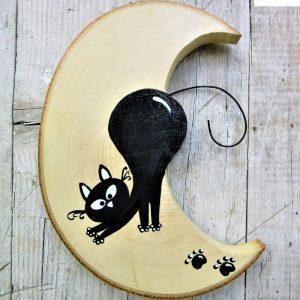 luna-in-legno-gatto-che si-stiracchia-fronte