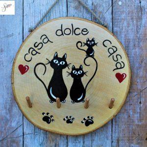 appendi-chiavi-legno-dipinto-a-mano-casa-dolce-casa-famiglia-gatti