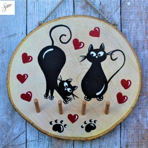 appendi-chiavi-legno-dipinto-a-mano-coppia-gatti-innamorati