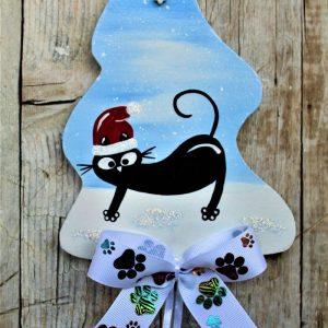 targhetta-in-legno-albero-di-natale-gatto-a-cavalcioni