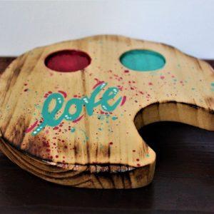 Tazzine-ceramica-vassoio-legno-cuori-fuxia-verde-love-vassoio