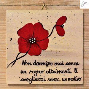 targhetta-in-legno-moderna-dipinta-a-mano-papavero-rosso