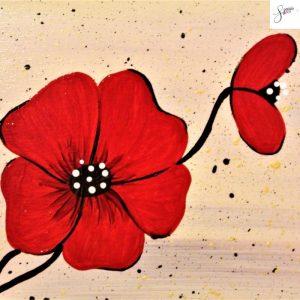 targhetta-in-legno-moderna-dipinta-a-mano-papavero-rosso-dettaglio
